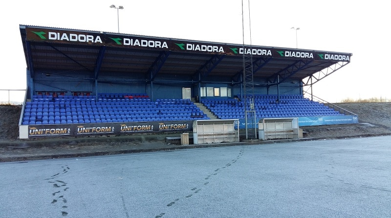 Fauske Stadion main stand