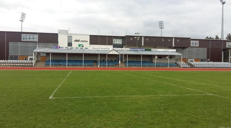 Hønefoss Stadion main stand