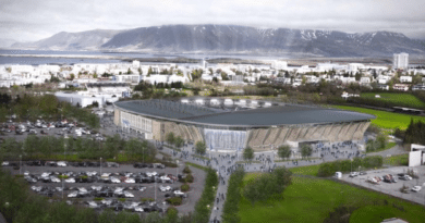 Icelands new national football arena Laugardalsvöllur