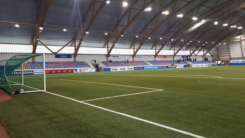 Finnmarkshallen hovedtribune - Alta IF
