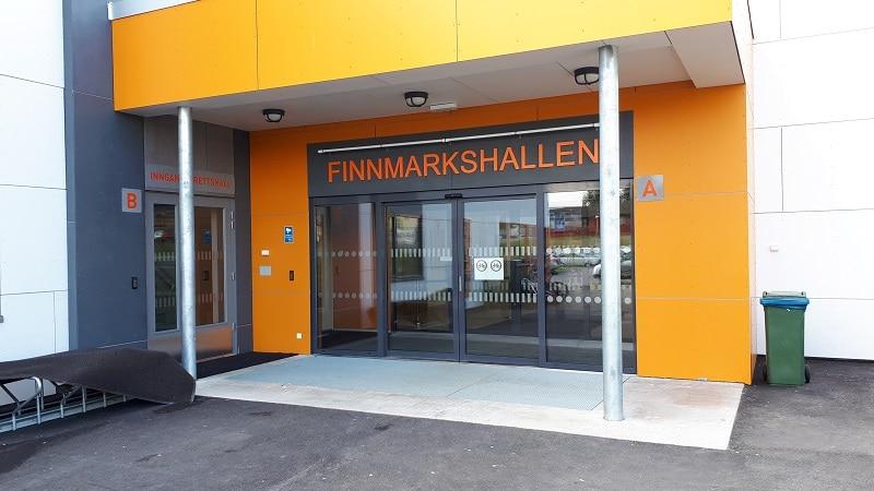 Finnmarkshallen inngang - Alta IF