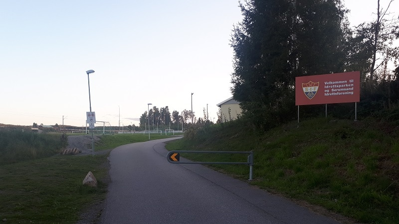 Sørumsand Idrettspark innkjørsel - Sørumsand IF