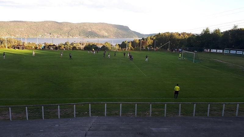 Solbakken Stadion utsikt til fjorden