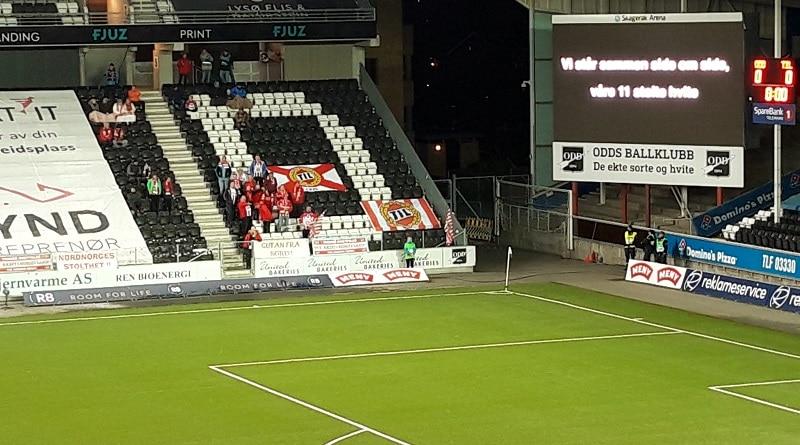 Skagerak Arena Isberget supporters