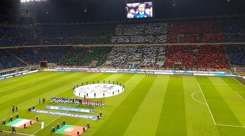 Italia-Portugal 0-0 San Siro tifo