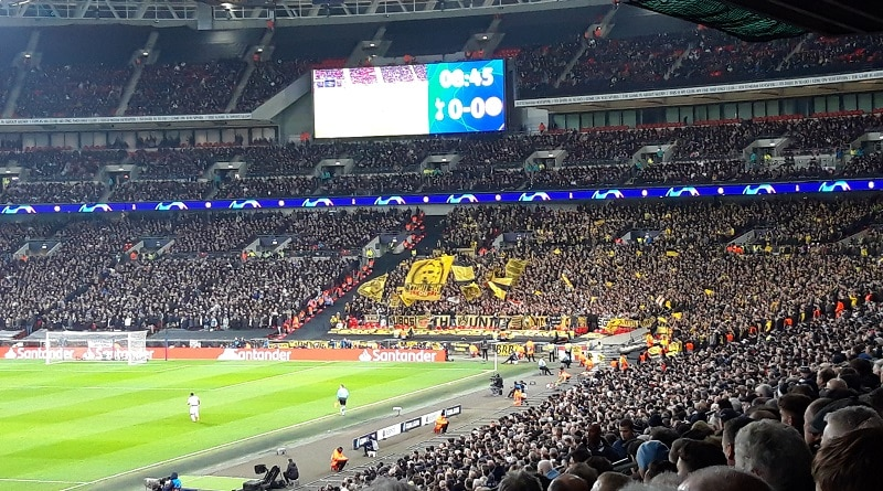 Great away supporters from Borussia Dortmund