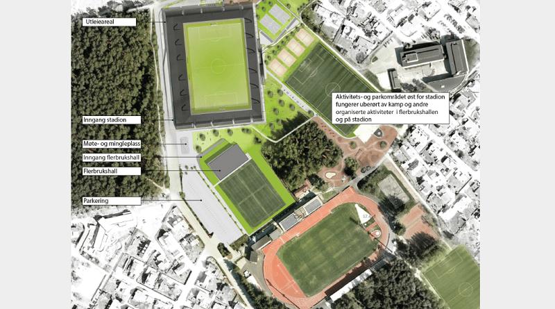 Øster Hus Arena kart