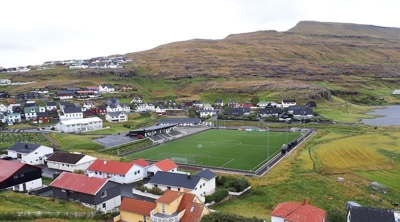 Vøllurin í Hólmanum stadium in Eidi
