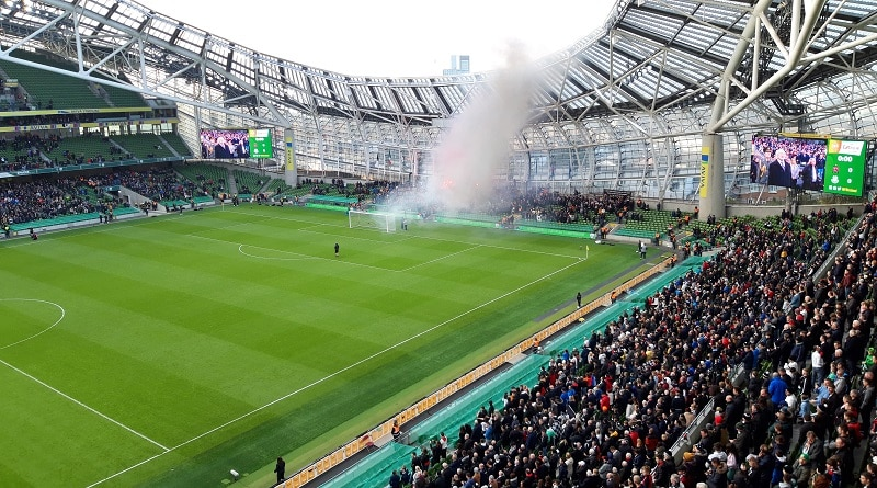 Dundal fans at the FAI Cup final 2019