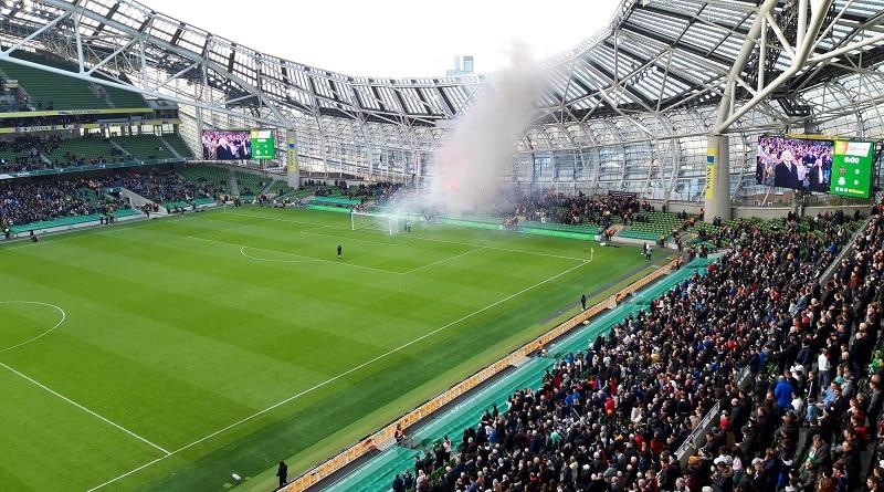 Dundal fans at the FAI Cup final 2019